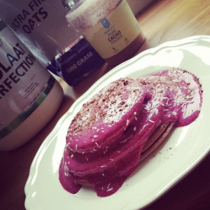 protein pancakes chocolat coconut healthy